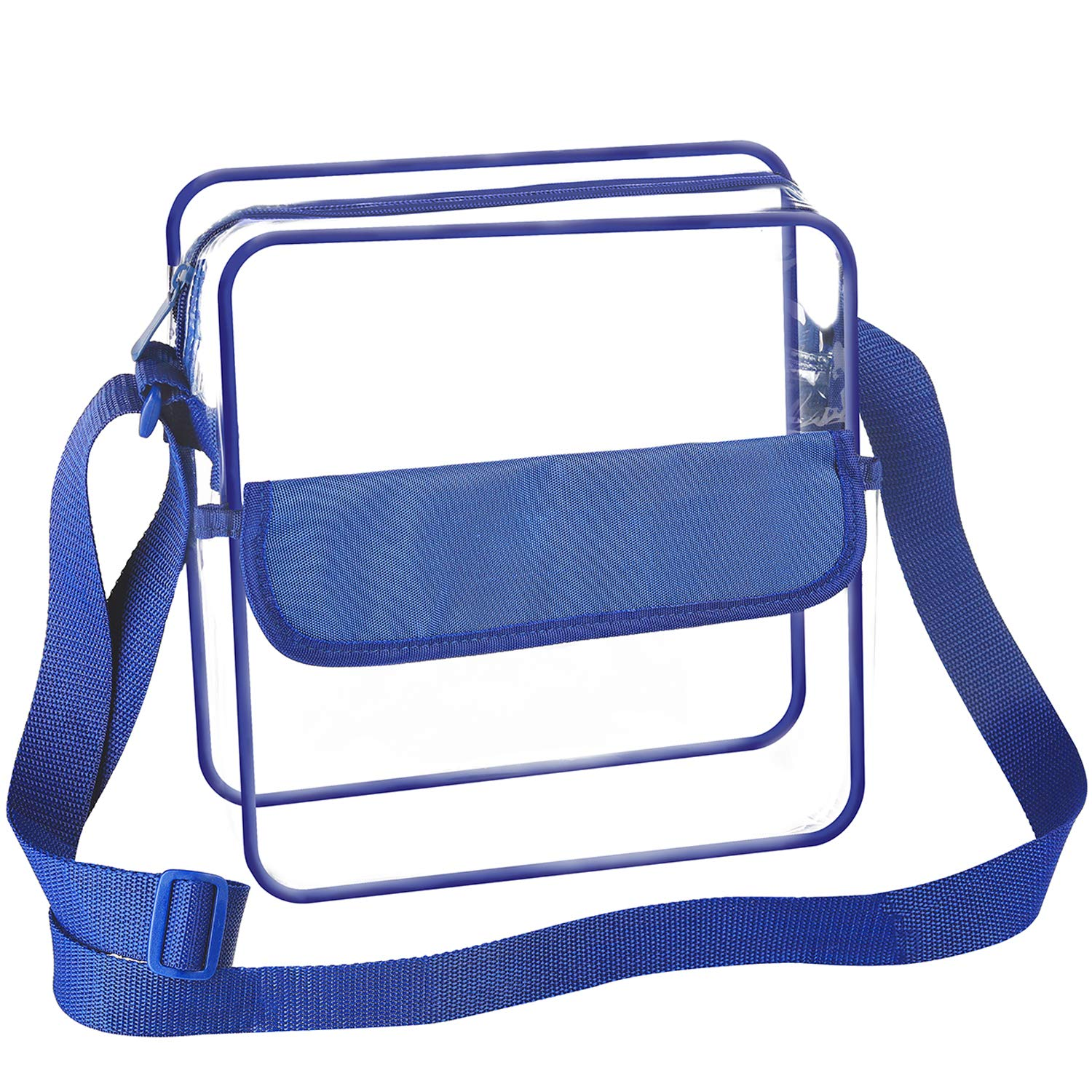 PGA NCAA and NFL Stadium Approved Clear Purse Seasons Treasure 8 inch Clear Cross-Body Messenger Shoulder Bag w Adjustable Strap