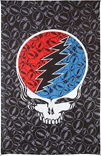 Sunshine Joy Grateful Dead Steal Your Face Tapestry Tablecloth Wall Art Beach Sheet Huge 52×80 Inches