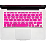 """Kuzy Keyboard Silicone Cover Skin for MacBook Pro 13"""" 15"""" 17"""" Aluminium Unibody (with or w/out Retina Display) for iMac and MacBook Air 13"""" Neon Pink"""