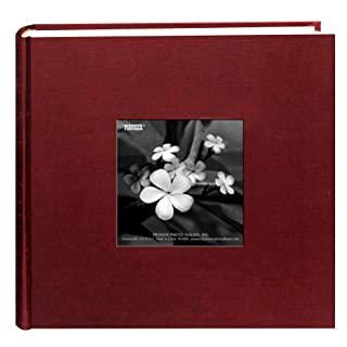 Pioneer Photo Albums 100 Pocket Cranberry Silk Fabric Frame Cover Photo Album for 4 by 6-Inch Prints