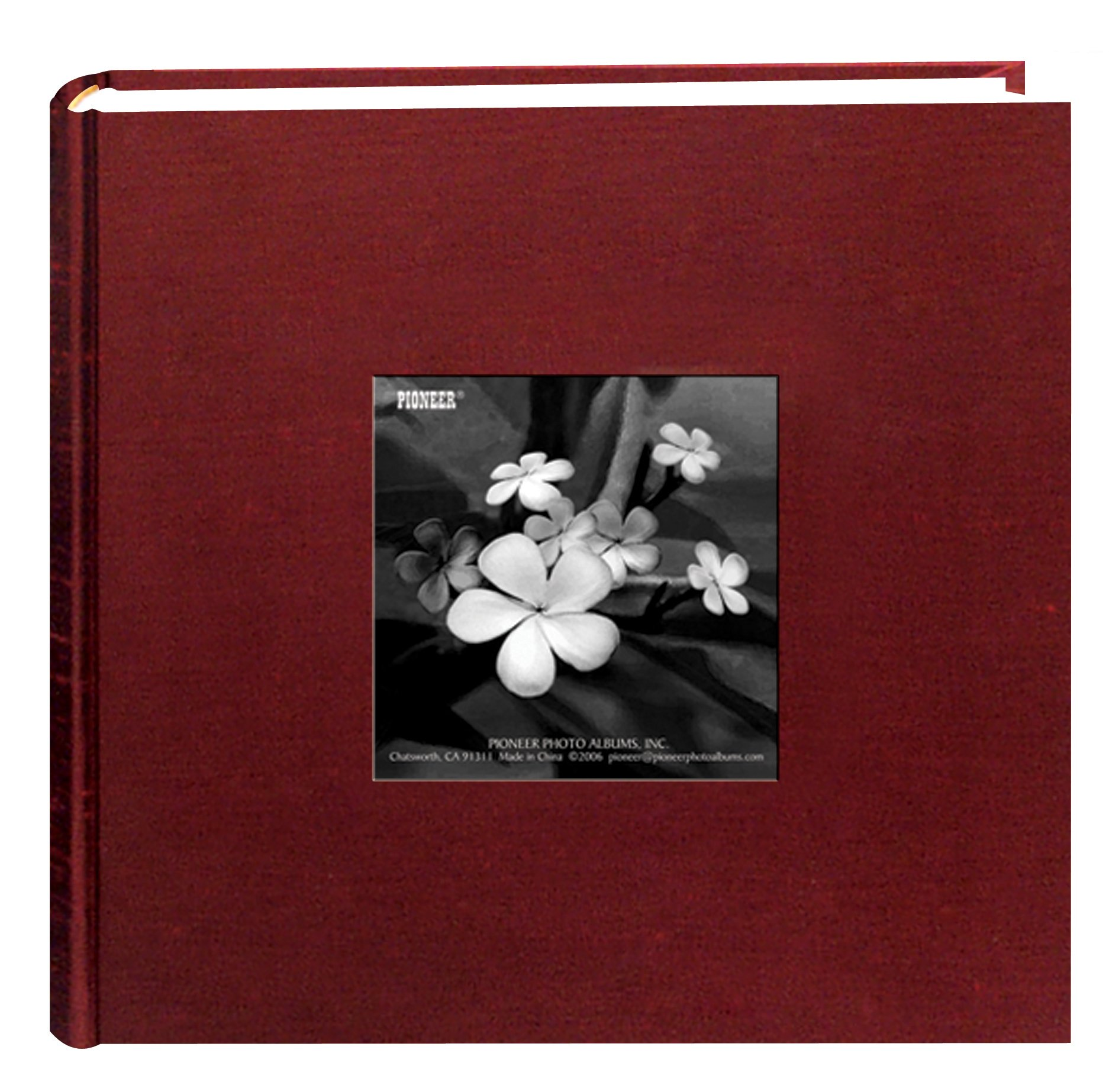 Pioneer Photo Albums 100 Pocket Cranberry Silk Fabric Frame Cover Photo Album for 4 by 6-Inch Prints by Pioneer Photo Albums