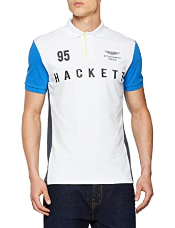 HKT by Hackett AMR HKT Polo, Multicolor (White/Multi 8AJ), S para ...