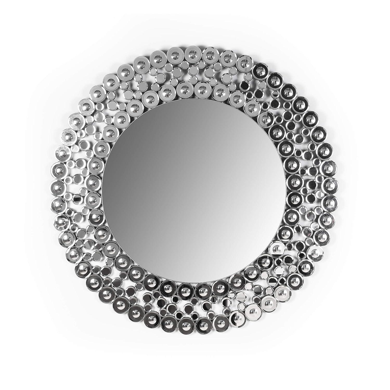 Marabell 39-Inch Round Large Wall Mirror Makeup Hallway Bedroom Vanity Accent Mirror Circular Bathroom