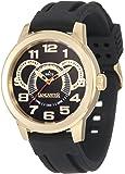 Lancaster Men's OLA0457NR-YG-NR Non Plus Ultra Black Textured Dial Black Silicone Watch