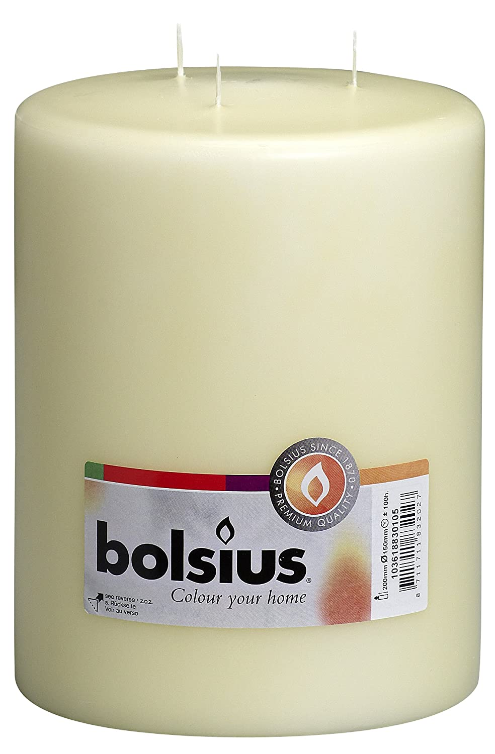 Multi Wick Candles Bolsius Multi Wick Candle Paraffin Wax Ivory 15 X 20 Cm Amazon