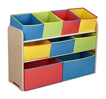Delta Children Multi Color Deluxe Toy Organizer With Storage Bins