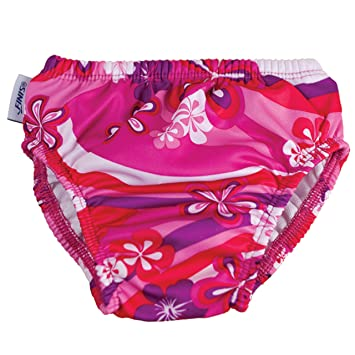 Swim Pañales Flower Power, Pink White Red