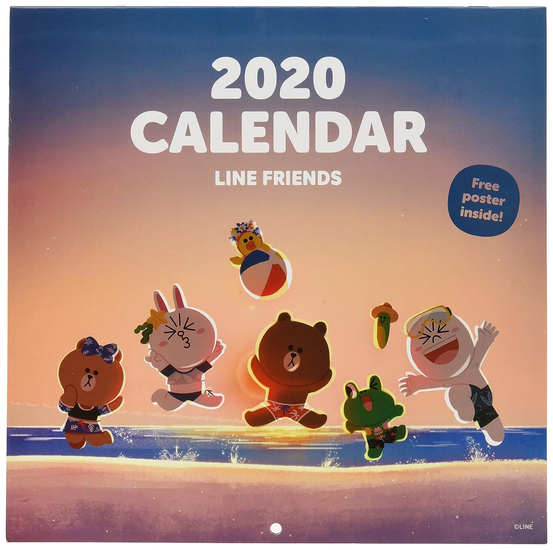 12 Months Free Poster Included 30 x 30cm ERIK BT21 2020 Wall Calendar