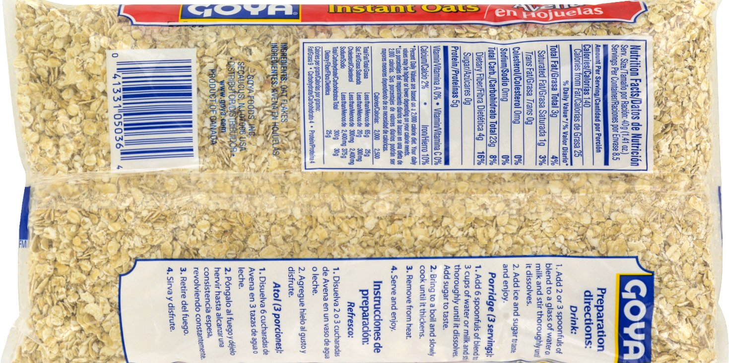 Amazon.com : Goya Foods Instant Oats, 32 Ounce (Pack of 6) : Grocery & Gourmet Food