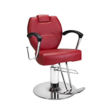 amazon com beauty salon styling chair herman red all purpose salon