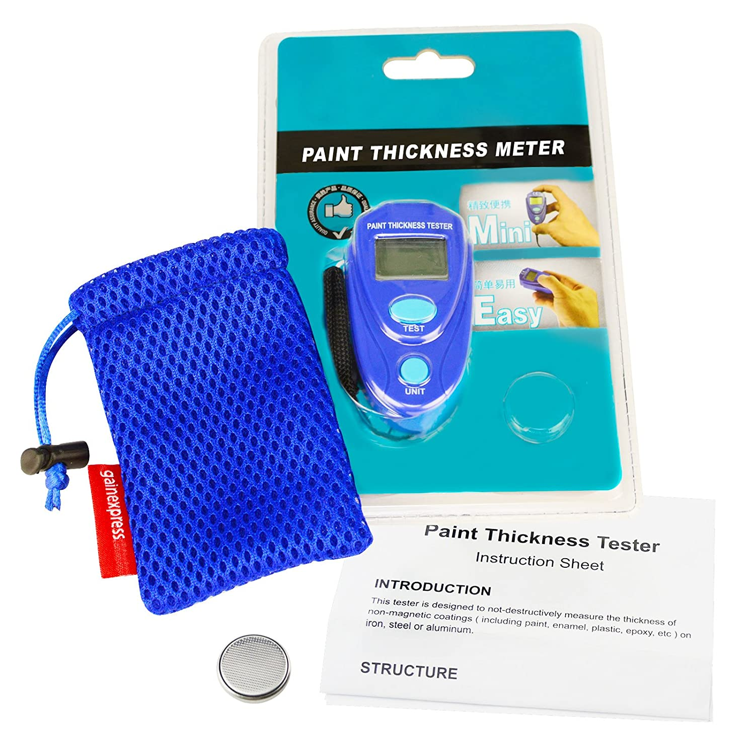 Amazon.com: Generic Portable Mini Digital Coating Paint Thickness Gauge  Meter Tester Car Painting: Automotive