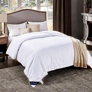 "SilKicah Mulberry Silk Comforter Queen Size, 100% Natural Mulberry Silk Filled Duvet Breathable Lightweight Pure Silk Quilt for Winter Season(86""×90"")"
