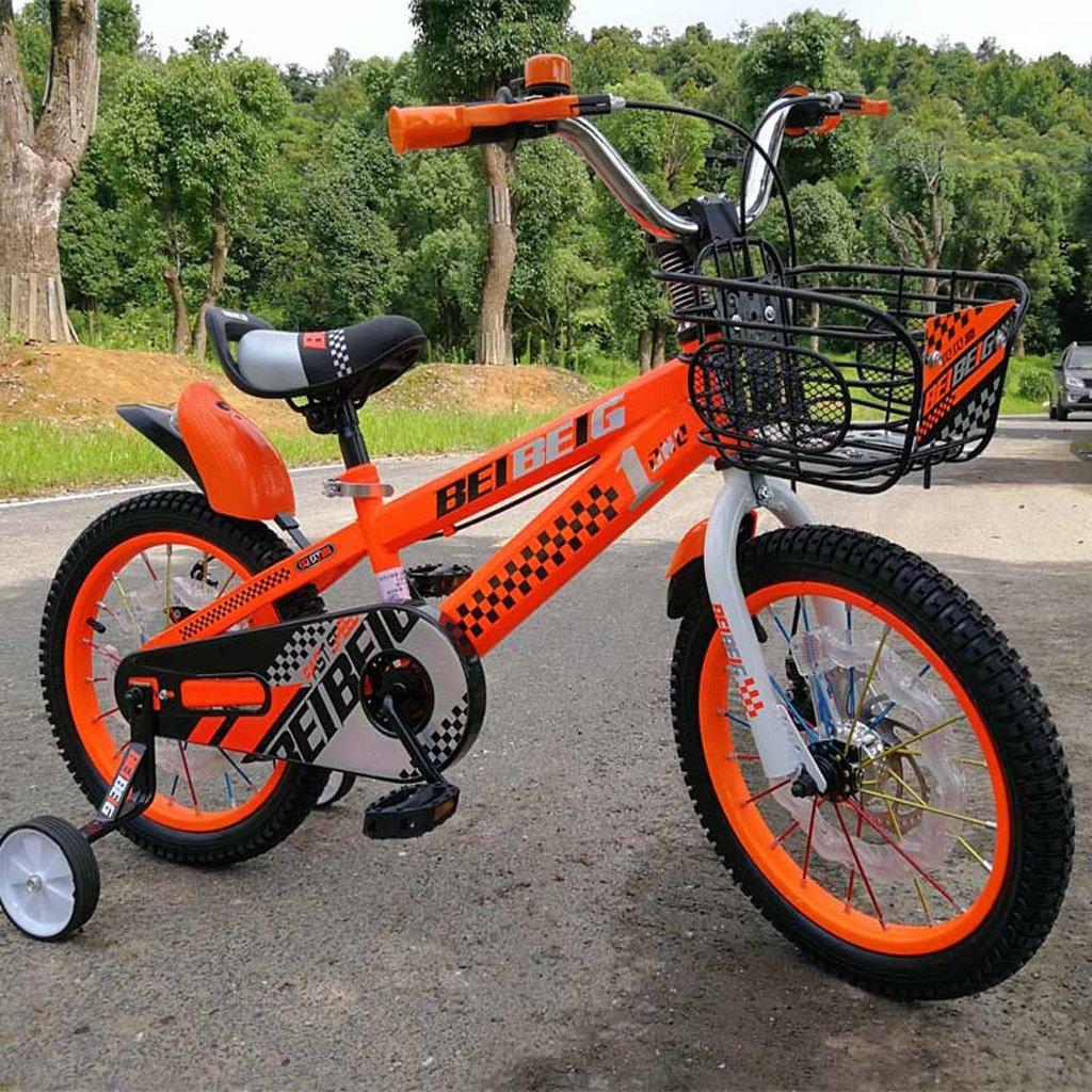 子供用自転車12/14/16インチベビーキャリッジ3-8歳ベビーペダル自転車アルミ合金リングシルバー ( Size : 16 inch orange ) B07DP29P1S