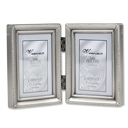 Buy Lawrence Frames Antique Pewter Hinged Double 2x3 Picture Frame ...
