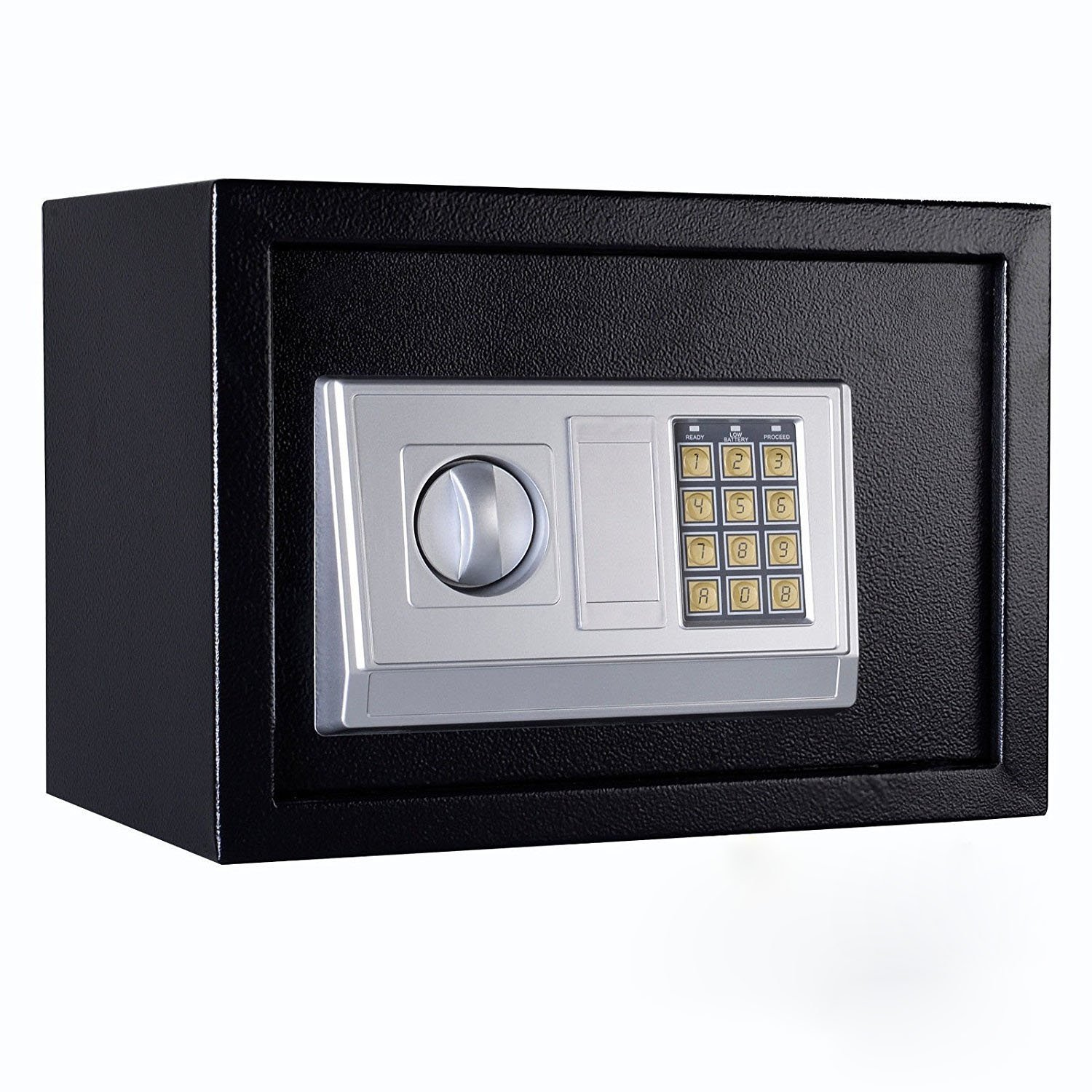 FixtureDisplays 13.8 x 9.8 x 9.8 Safe Security Box Digital Safe Box Black Security Box with Digital Lock 18133-NPF by FixtureDisplays
