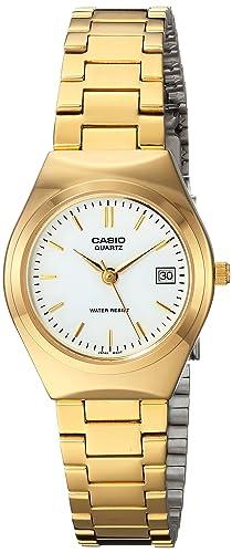 Casio LTP-1170N-7A - Reloj analógico de Cuarzo para Mujer, Correa de Acero Inoxidable Color Dorado: Casio: Amazon.es: Relojes