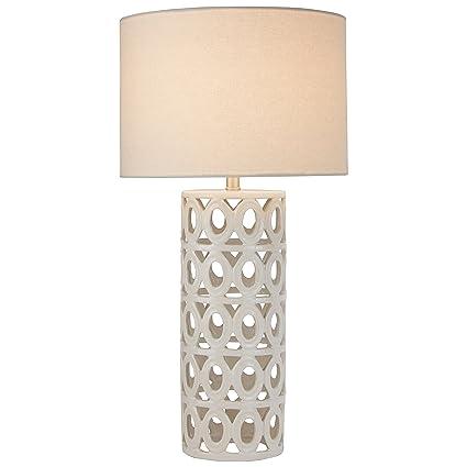 Superb Stone U0026 Beam Ceramic Geometric Table Lamp, 25u0026quot;H, With Bulb, ...