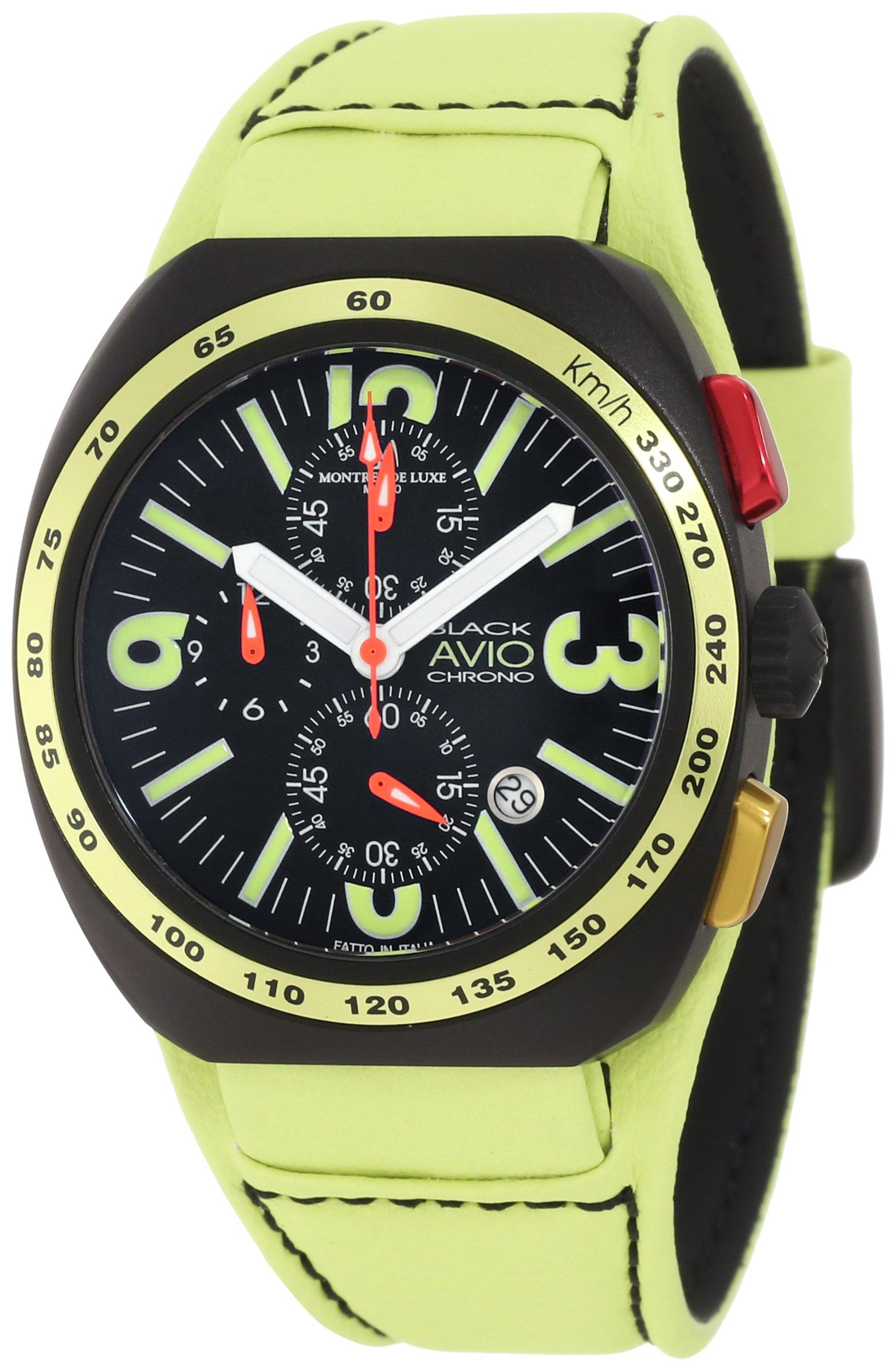 Montres De Luxe Men's BK5503 Black Avio Summer Quartz Chronograph Black Dial Watch