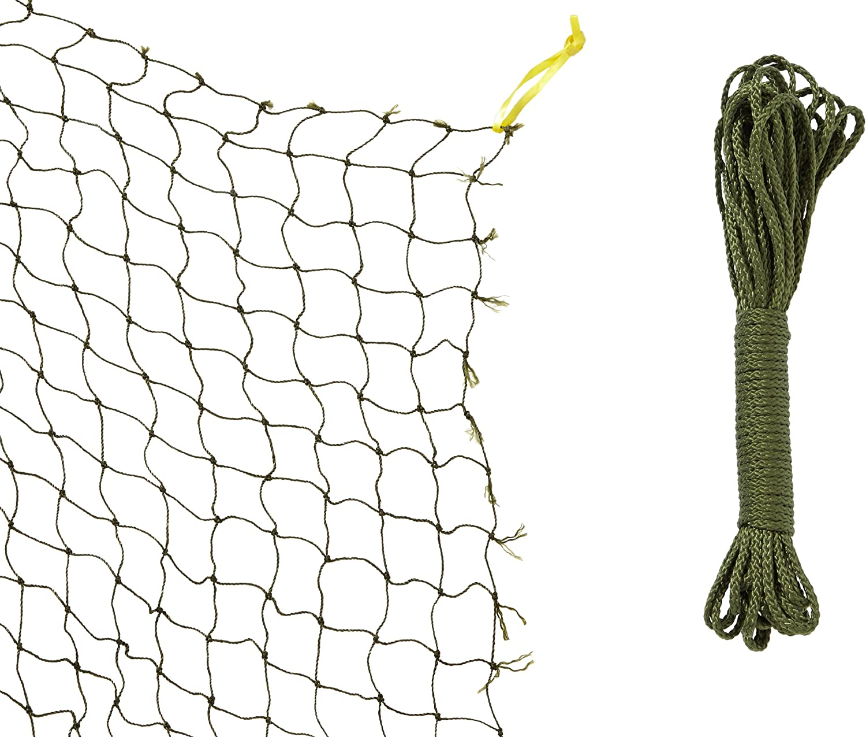 TRIXIE Red protección, con Hilo Metálico, 2 x 1.5 m, Oliva-Verde, Gato