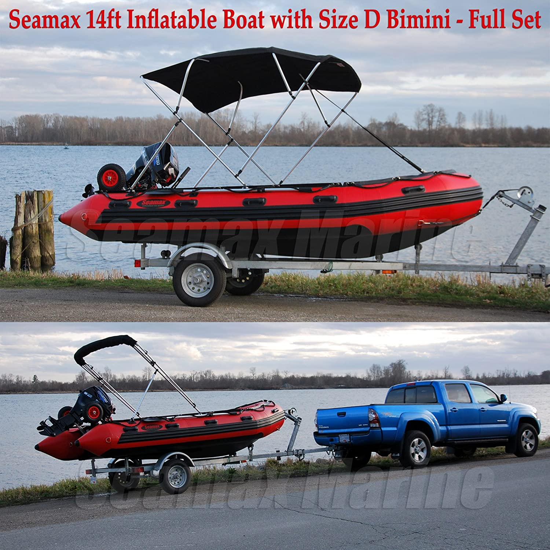 Amazon.com  Seamax Bimini Top Solution for Inflatable Boat Fiberglass Boat u0026 Aluminum Boat  Sports u0026 Outdoors & Amazon.com : Seamax Bimini Top Solution for Inflatable Boat ...