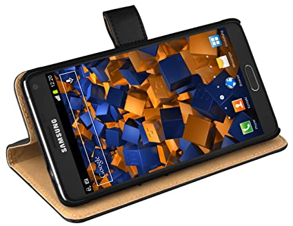 mumbi Ledertasche im Bookstyle für Samsung Galaxy Note 4 Tasche