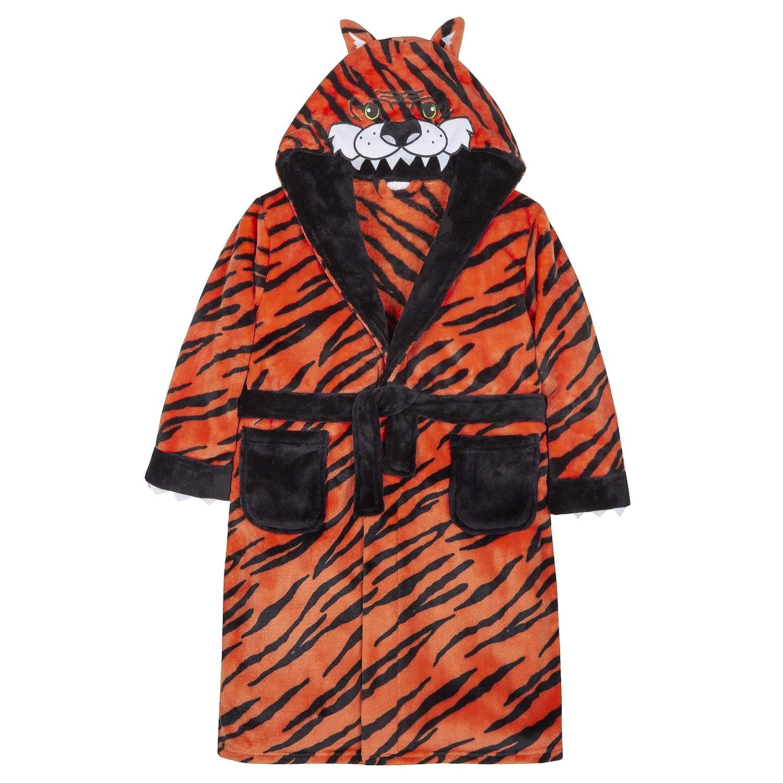 Minikidz / 4Kidz Childrens Novelty Tiger Design Fleece Dressing Gown