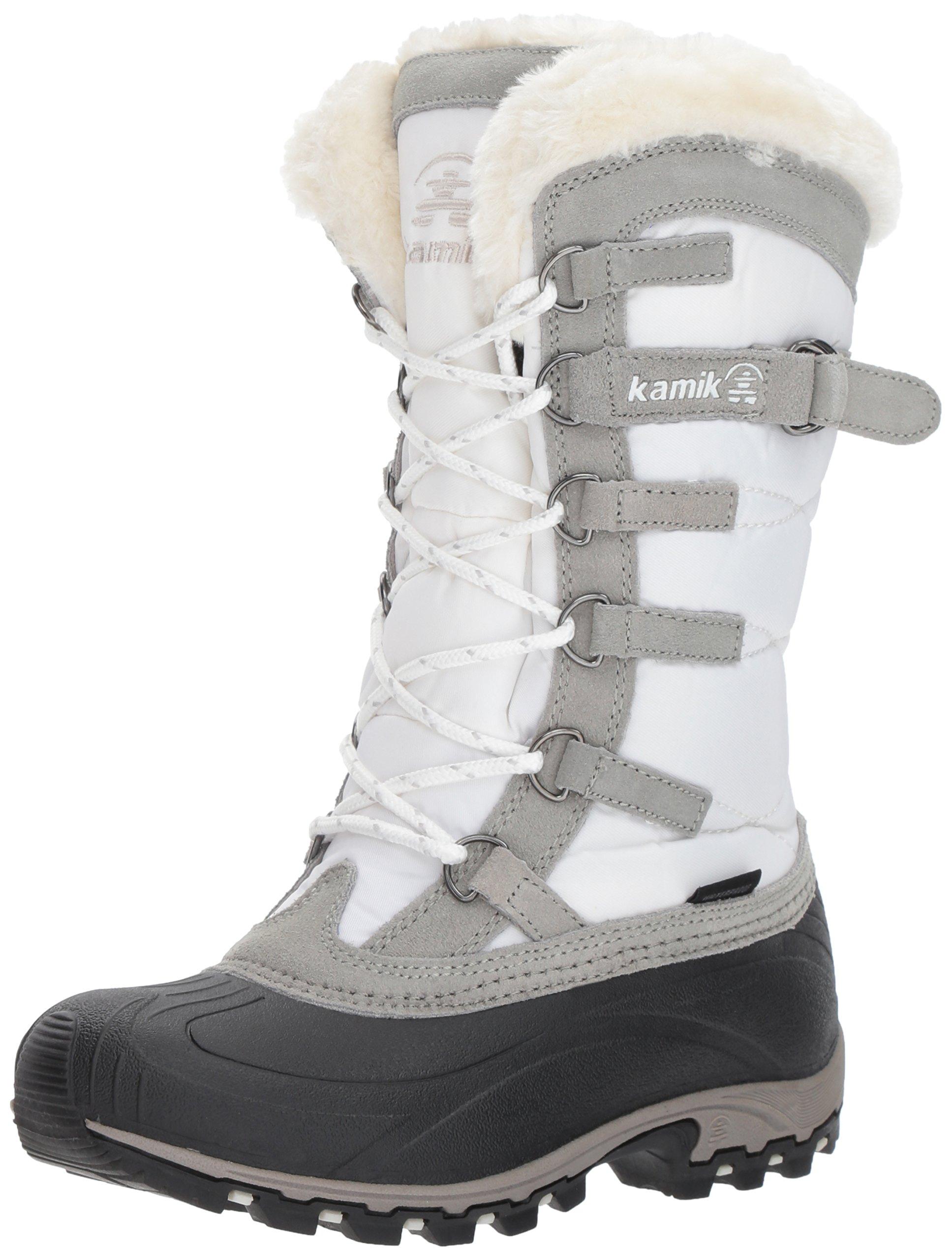 Kamik Women's Snowvalley Winter Snow Boot ,White WH2,8 M US