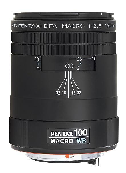 057a49d81 Amazon.com : Pentax 100mm f/2.8 WR D FA smc Macro Lens for Pentax ...