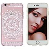 iPhone 6 Case, LUOLNH Henna Full Mandala Floral Dream Catcher Hard Plastic Clear Case Silicone Skin Cover for...
