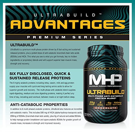 MHP Ultra-Build Protein, Chocolate, 2 lb