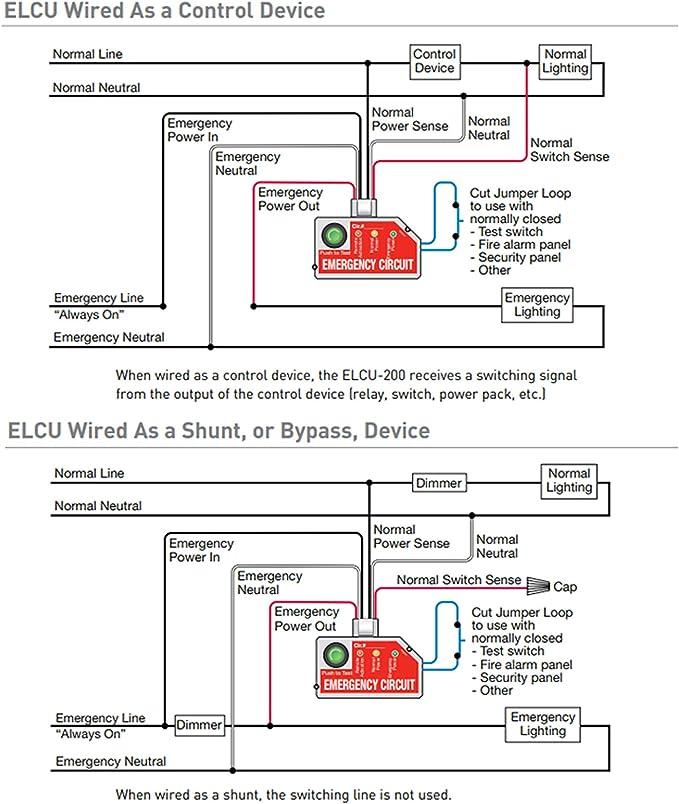Amazon Com Wattstopper Elcu 200 Emergency Lighting Cnotrol Unit Power Pack White Home Audio Theater