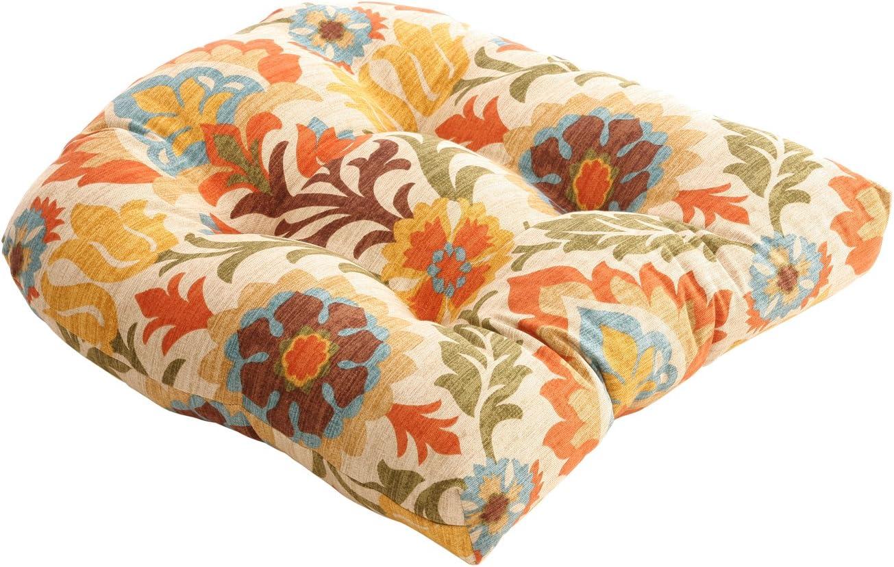 Pillow Perfect Santa Maria Chair Cushion, Adobe