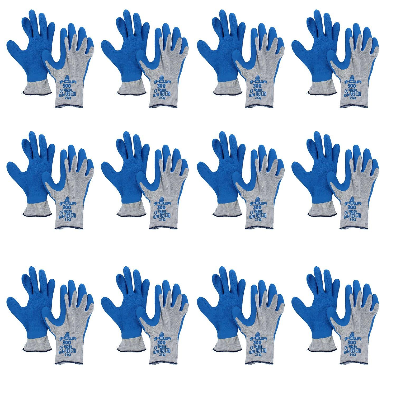 Atlas Showa Glove 300 Atlas Fit Super Grip Gloves-Medium (12 Pair Pack) by SHOWA