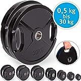 Set de discos olímpicos para pesas de MaxStrength, de goma, con orificio de 5 cm, para entrenamiento en gimnasio o en casa, color negro, tamaño 10kg x 2=20: Amazon.es: Deportes