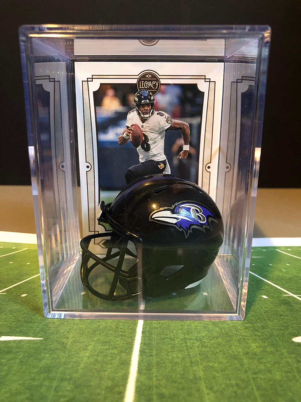 Baltimore Ravens NFL Helmet Shadowbox w/Lamar Jackson card 81STdCnmdYL