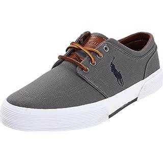 Polo Ralph Lauren Men's Faxon Low Sneaker, Grey, 8.5 D US