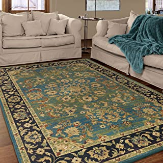 "product image for Twisted Tradition Aqua 5'3"" x 7'6"""