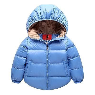 Aiffer Baby Boys Girls Hooded Coats Puffer Outerwear Winter Lightweight Jacket .