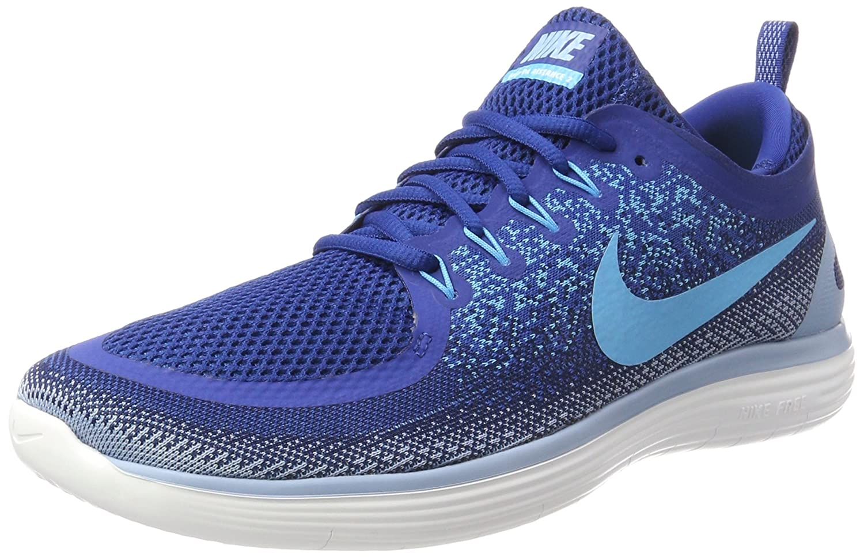 Nike Herren Free RN Distance 2 Laufschuhe  45.5 EU|Blau (Gym Blue/Blue Fury/Binary Blue/Cirrus Blue/White)