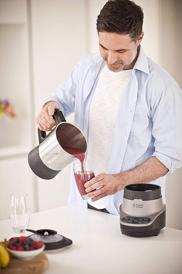Russell Hobbs – Robot de cocina 2 en 1 (Licuadora y Máquina para hacer Sopas, 1200W, Inox, 1,75l, Gris) -ref. 21480-56: Amazon.es: Hogar