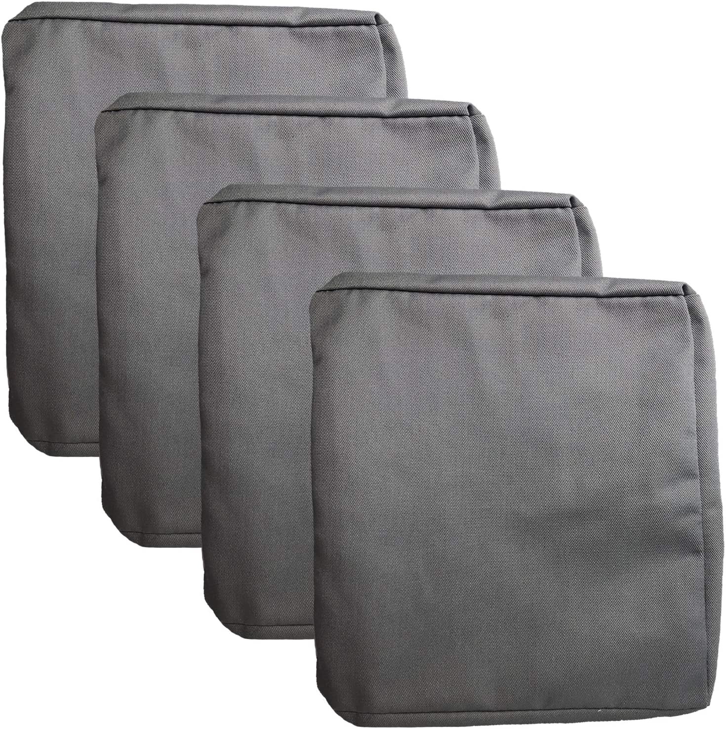 FLYMEI Outdoor Cushion Replacement Covers, Patio Cushion Replacement Seat Covers, Large Chair Seat Covers Only (24'' X 22'' X 4'' 4Pack, Grey)