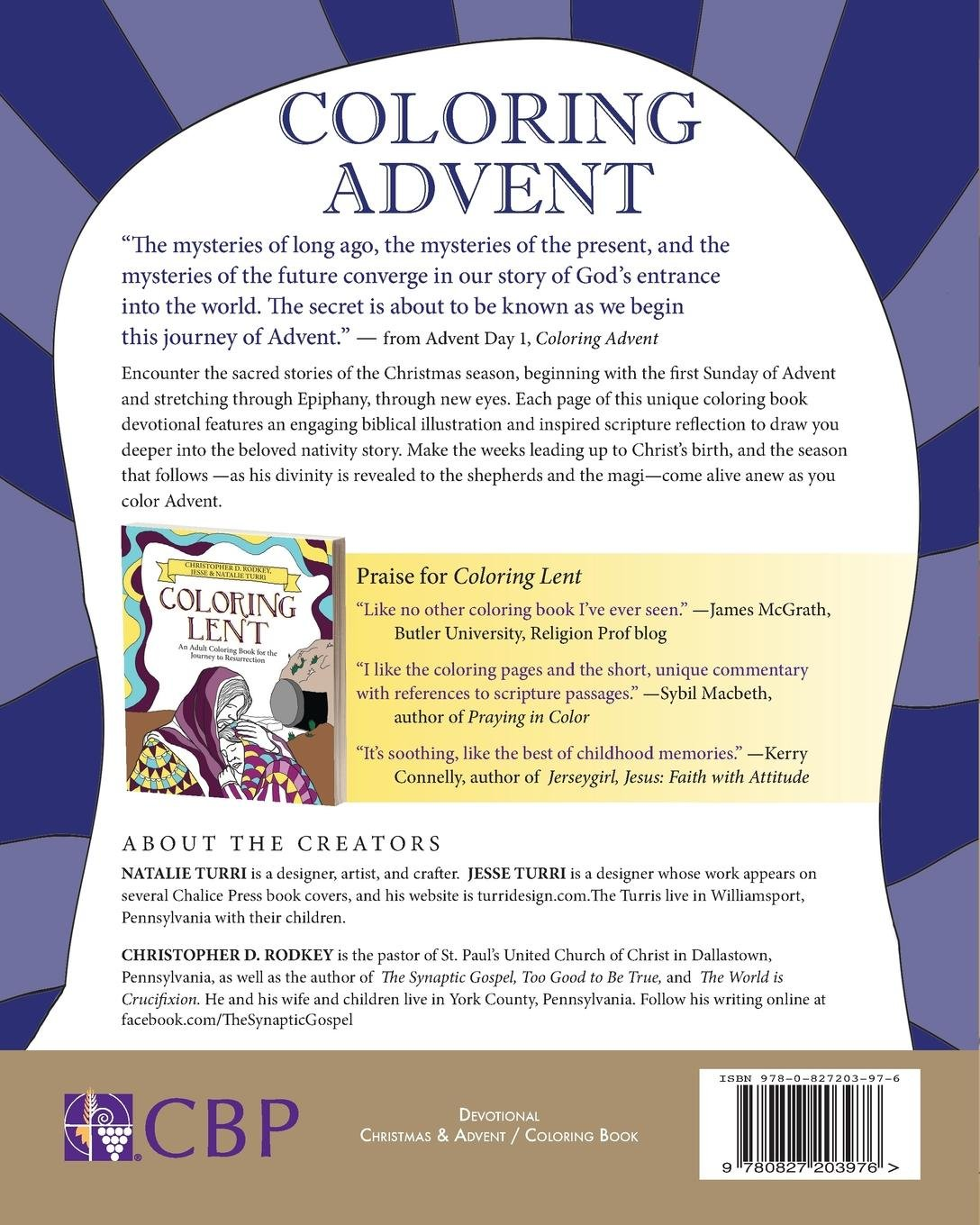 Amazon Coloring Advent An Adult Book For The Journey To Bethlehem 9780827203976 Christopher Rodkey Jesse Turri Natalie Books