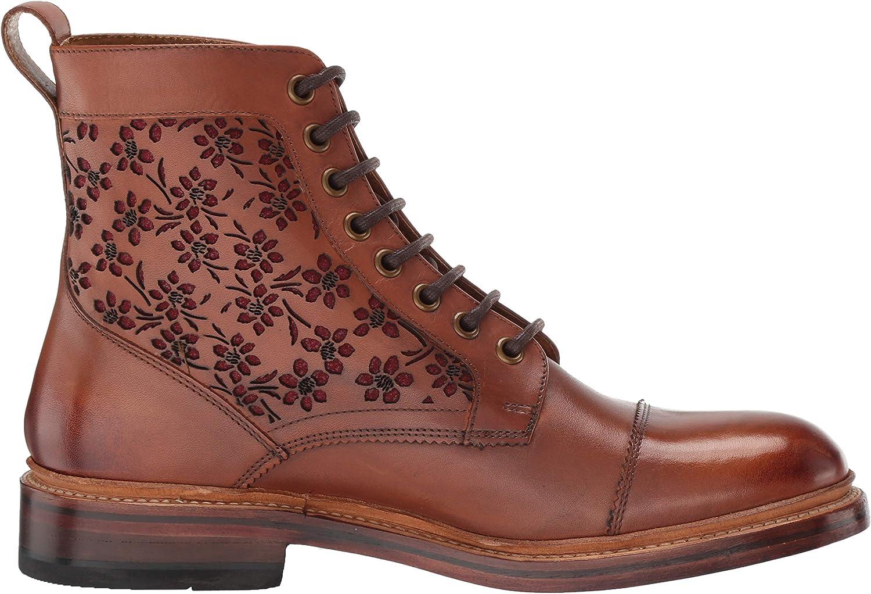 Stacy Adams Men's M2 Cap-Toe Lace Up Boot Ankle Cognac