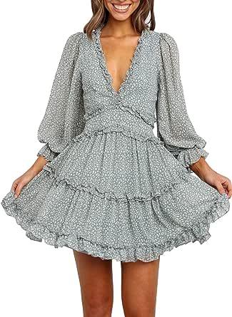 Eytino Women Cowl Neck Long Sleeve Plaid Elbow Patch Patchwork Shirts Tunic Dress