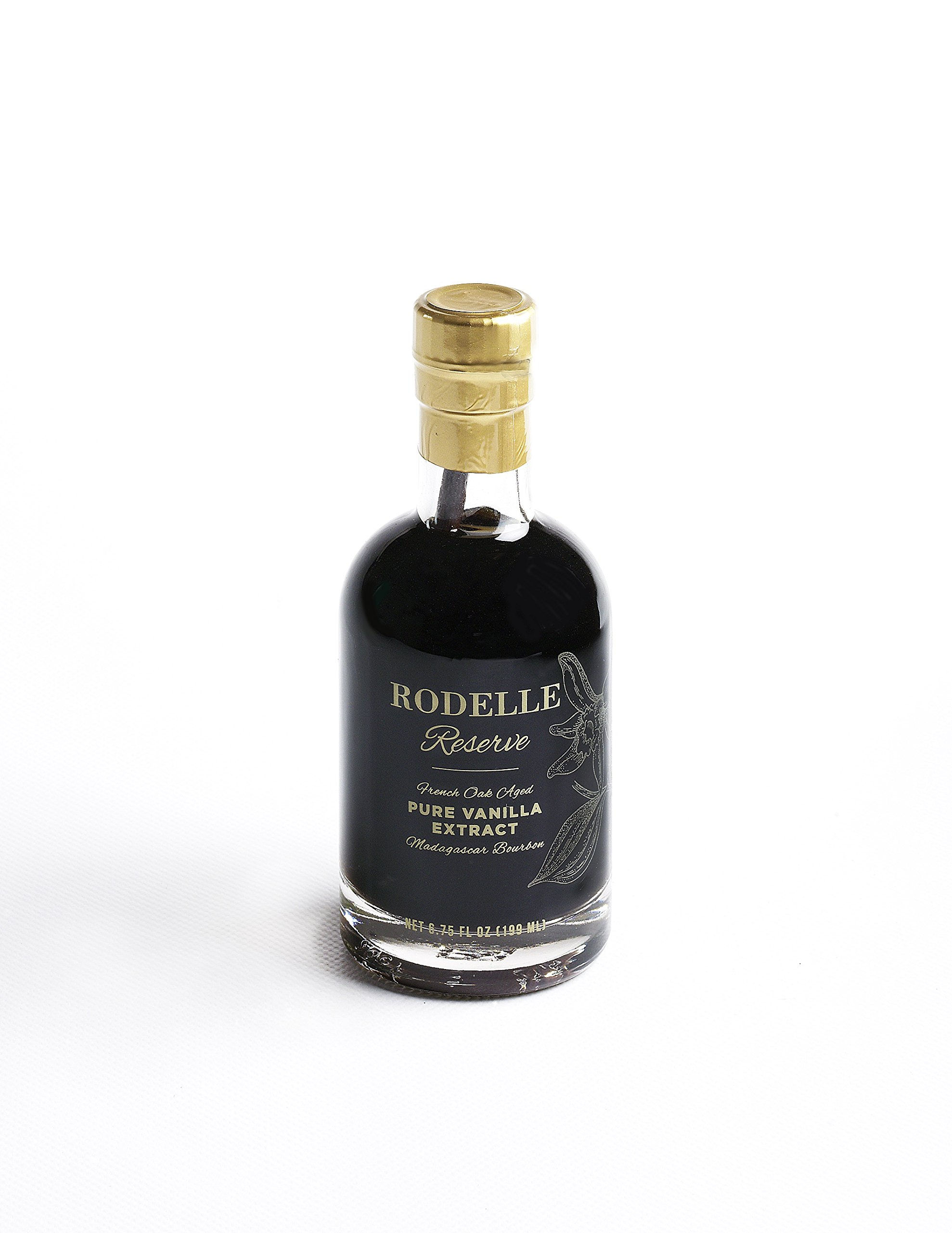 Rodelle Reserve Pure Vanilla Extract, 6.75 Oz, Madagascar Bourbon, Double Fold, Aged in French Oak, Contains Gourmet Vanilla Bean, Gift Box Included by Rodelle (Image #1)