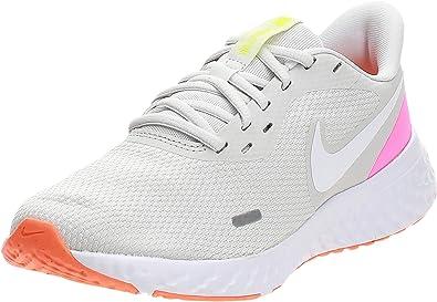Nike Wmns Revolution 5, Zapatilla de Correr para Mujer, Tinte Platino/Blast Pink Blast, 37.5 EU: Amazon.es: Zapatos y complementos