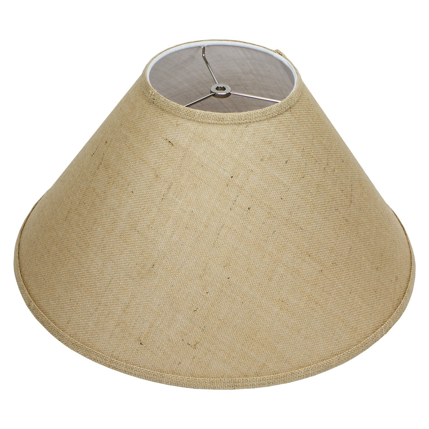 Fenchelshades com 7 top diameter x 20 bottom diameter 12 slant height lampshade usa made burlap natural amazon com