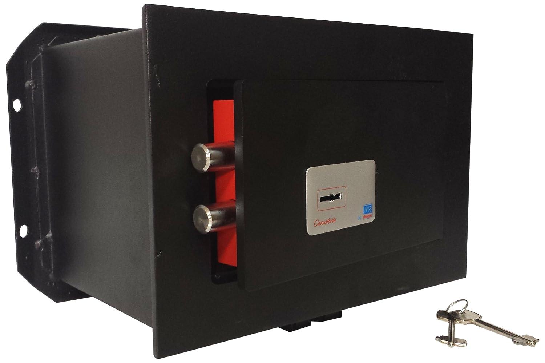 MR-MONDIAL CM2101PB CASSAFORTE A CHIAVE Dim. 210x310x195 mm, Nero/Antracite