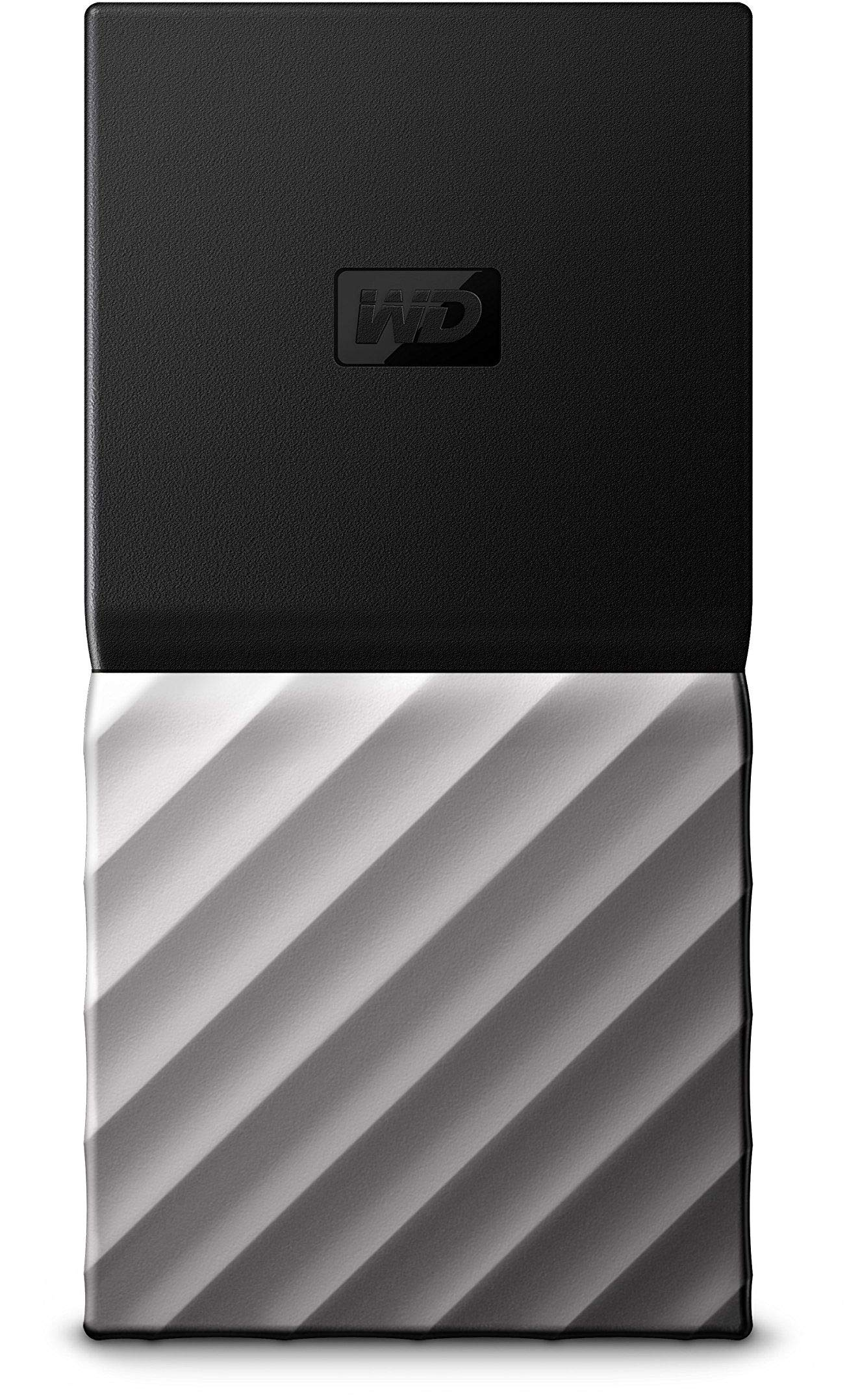 WD 256GB My Passport SSD Portable Storage - USB 3.1 - Black-Gray - WDBK3E2560PSL-WESN