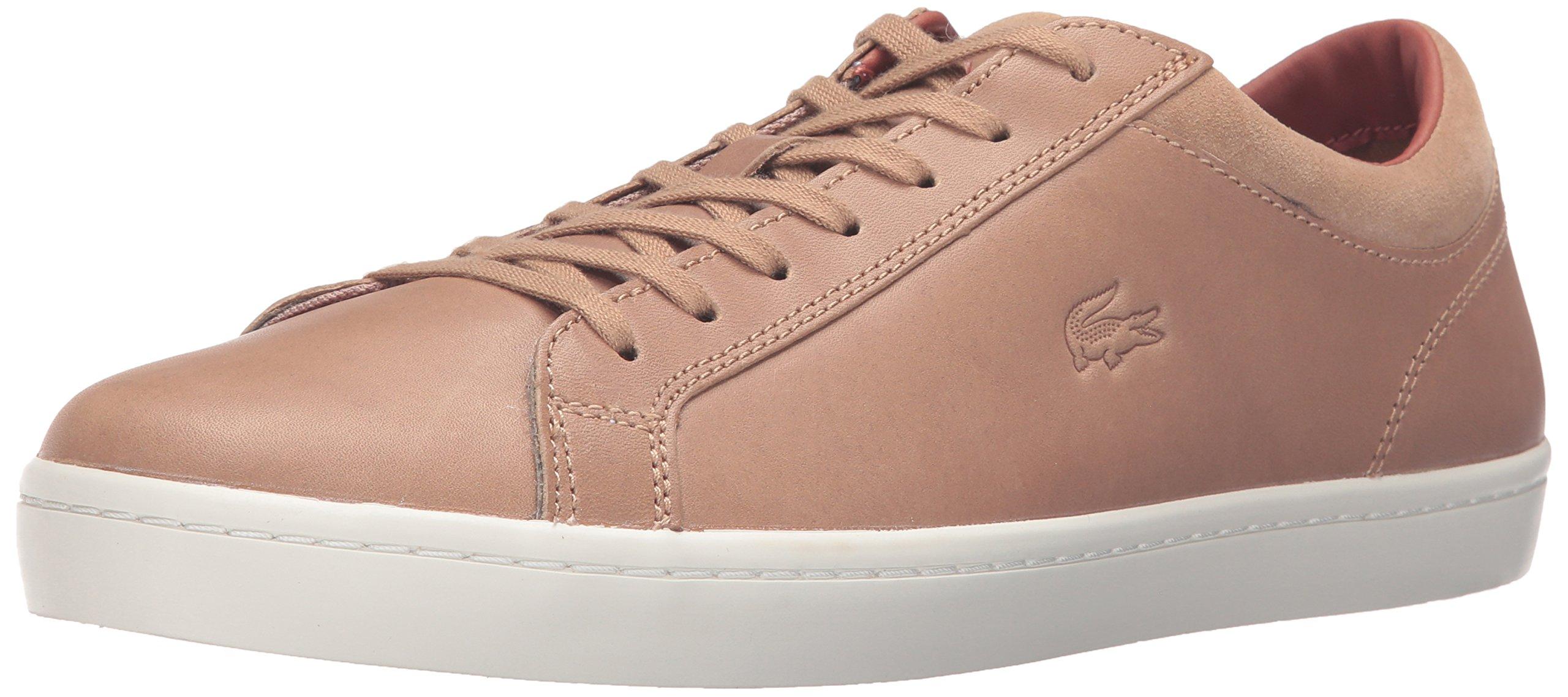 Lacoste Men's Straightset 316 2 Cam Fashion Sneaker, Light Tan, 8.5 M US